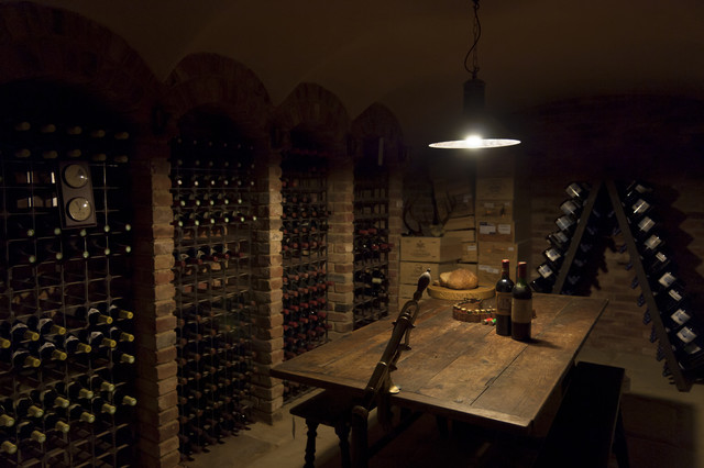 Country House traditional-wine-cellar
