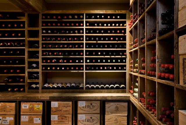 Crisp Architects traditional-wine-cellar