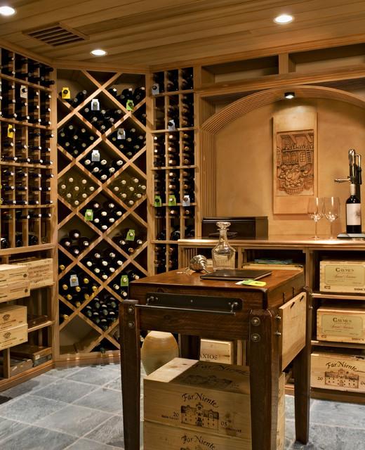 Crisp Architects farmhouse-wine-cellar