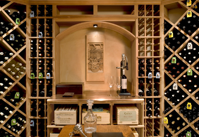 Crisp Architects traditional wine cellar