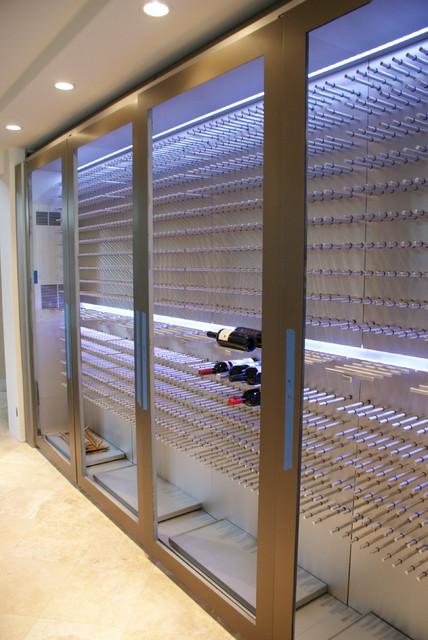 Custom Aluminum Wine Cellar Cabinet - Modern - Wine Cellar - hawaii ...