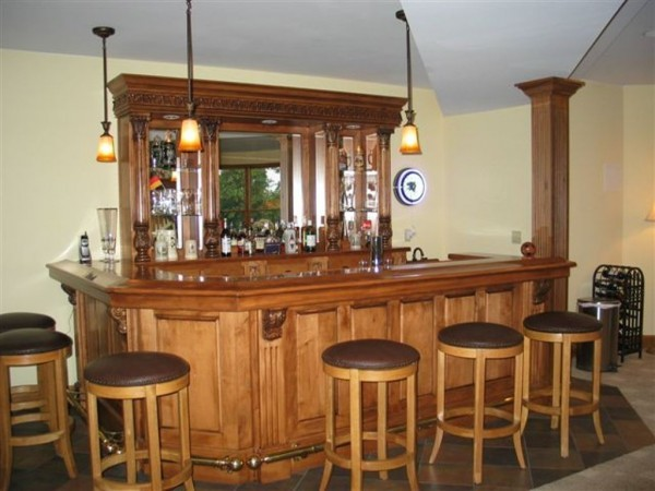 Custom Bar by Cullen Brothers traditional-wine-cellar