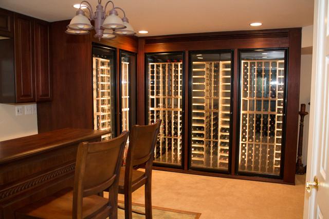 Custom Built in Wine Storage - Small footprint traditional-wine-cellar & Custom Built in Wine Storage - Small footprint