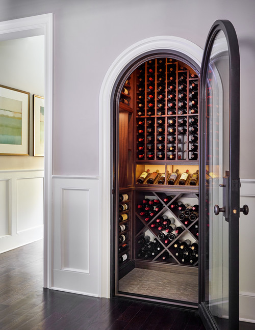 Wine Cellar in Custom Home in Rochester NY