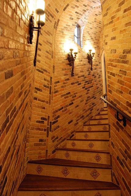 Custom Homes traditional-wine-cellar