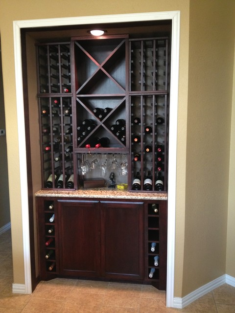 Custom Kitchen Wine Cabinet - Modern - Wine Cellar - dallas - by WineRacks.com