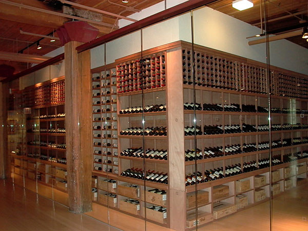 Custom Mahogany Wine Racks, Case Bins and Bulk Storage - wine
