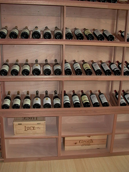 Custom Mahogany Wine Racks Case Bins And Bulk Storage