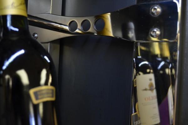 Custom Metal Wine Racks industrial-wine-cellar