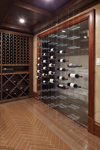 Example of a classic wine cellar design in Vancouver