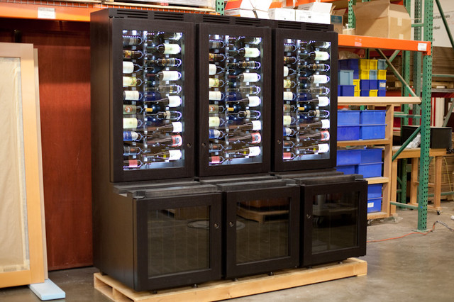 Custom Refrigerated Wine Cabinet Contemporary Wine
