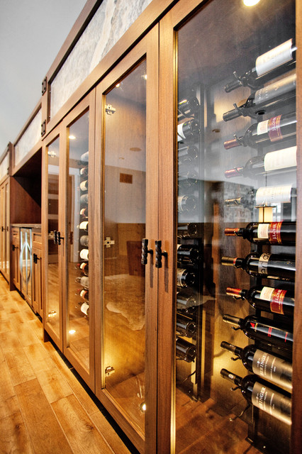 Custom Waterfront Home Barrie Transitional Wine Cellar