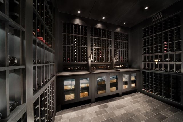 custom watermill wine cellar modern wine cellar new york by signature wine cellars. Black Bedroom Furniture Sets. Home Design Ideas