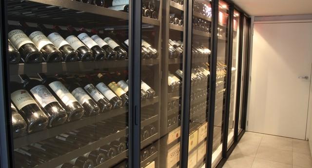 Custom Wine Cabinet - Metal & Glass - Modern - Wine Cellar - other metro - by Degre 12 - Custom ...