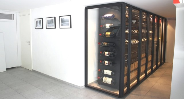 Custom Wine Cabinet - Metal u0026 Glass modern-wine-cellar & Custom Wine Cabinet - Metal u0026 Glass - Modern - Wine Cellar - Other ...