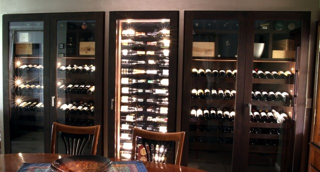 Custom Wine Cabinet - Wenge Wood - 640 Bottles contemporary-wine-cellar & Custom Wine Cabinet - Wenge Wood - 640 Bottles - Contemporary - Wine ...