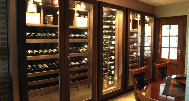 Custom Wine Cabinet   Wenge Wood   640 Bottles Contemporary Wine Cellar