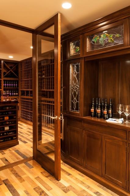 Custom Wine Cellar Door Boston Massachusetts traditional-wine-cellar
