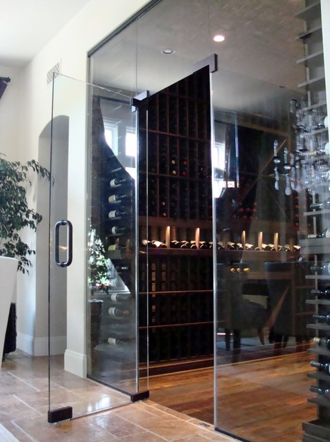 Custom Wine Cellar Door Orange County in Glass - Contemporary - Wine Cellar - orange county - by ...
