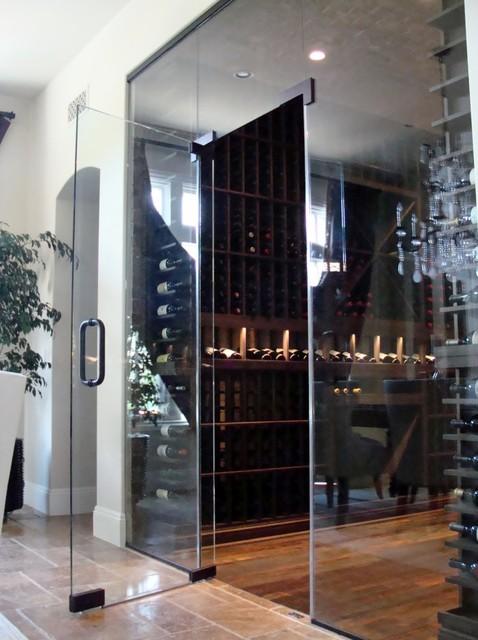 Custom Wine Cellar Door Orange County In Glass