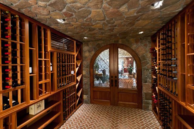 Custom wine cellar doors mediterranean wine cellar for Cost to build a wine cellar