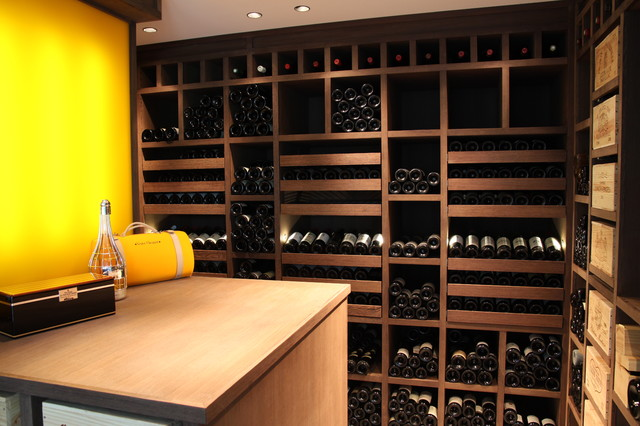 Custom Wine Cellar in Wenge - Luxembourg 2010 contemporary wine cellar