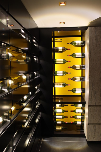 Custom Wine Cellar (Mineral) - Courchevel 2011 contemporary-wine-cellar
