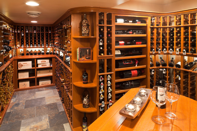 Custom wine cellar traditional wine cellar baltimore for Cost to build a wine cellar