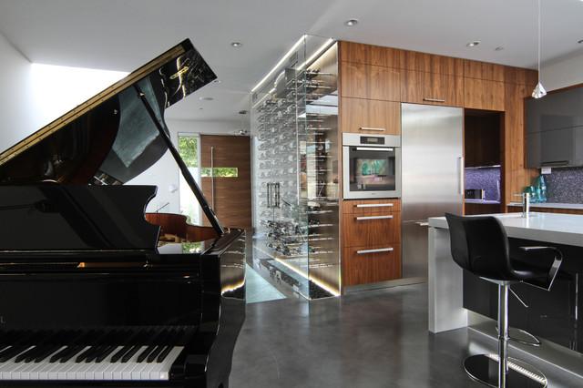 custom wine cellar modern wine cellar. Black Bedroom Furniture Sets. Home Design Ideas