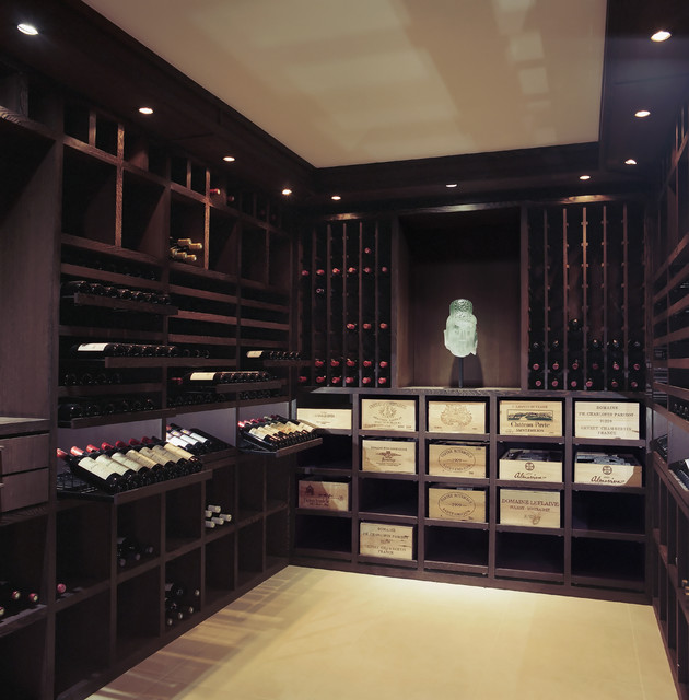 Custom Wine Cellar - Wenge Wood - 2200 Bottles contemporary-wine-cellar
