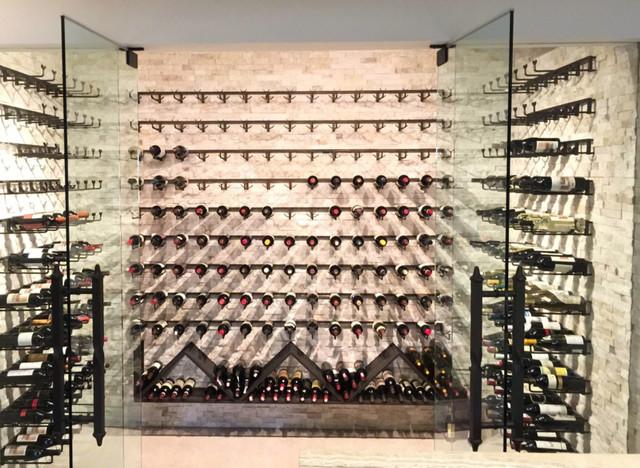 Modern Wine Cellar Detroit Custom Wine Room Rack System modern-wine-cellar