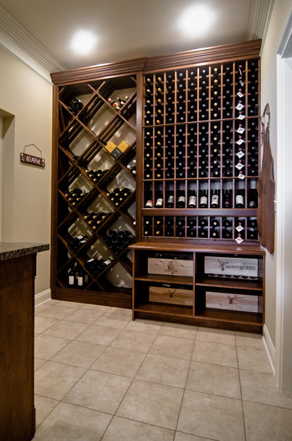 Custom wine storage traditional wine cellar by for Other uses for wine racks in kitchen