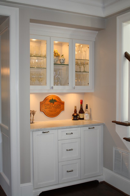 Customized Wet Bar eclectic wine cellar