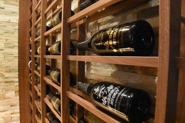 La Cache Wine Credenza : Del mar san diego small custom wine cellar walk in with hidden door