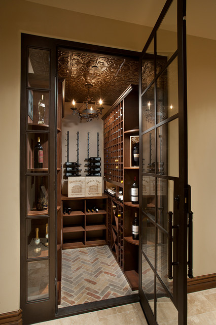 Desert Retreat at Silverleaf - Mediterranean - Wine Cellar - phoenix - by DrewettWorks