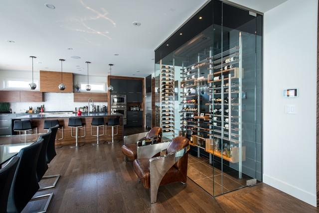 Dining Room Wine Cellars Contemporary Cellar