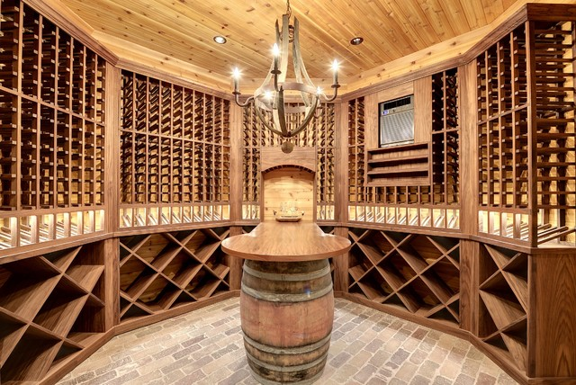Dream home wine room transitional wine cellar for Luxury home wine cellars