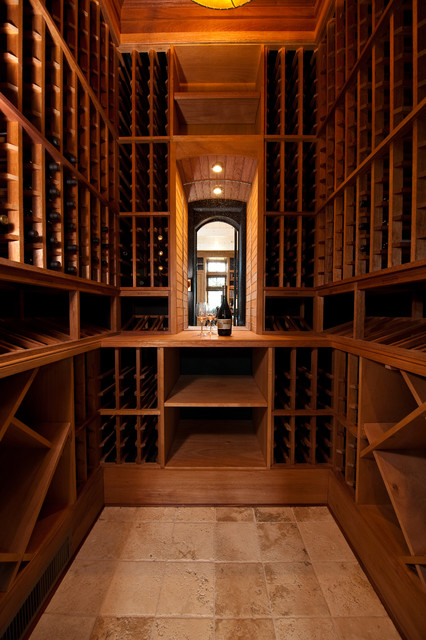 Eagle Point Road Residence 2 traditional-wine-cellar