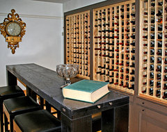East Side Townhouse eclectic wine cellar