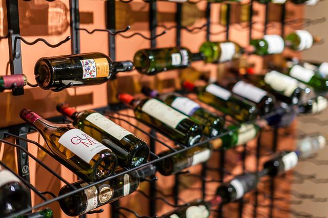 Wine cellar - transitional wine cellar idea in Toronto