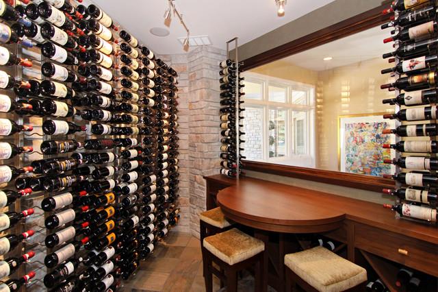 Eden Prairie Home Transitional Wine Cellar