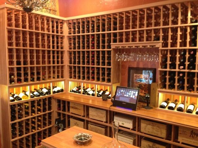 Library to Wine Cellar Conversion - Traditional - Wine Cellar - san diego - by Vintage Cellars