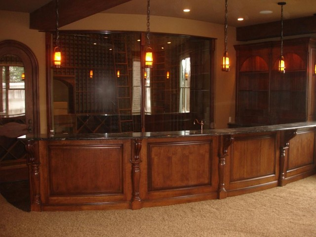 Entertainment cabinetry and home bars traditional wine cellar - Unique home bars ...
