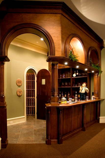 Entertainment Cabinetry and Home Bars traditional-wine-cellar