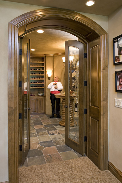 Entrance To Wine Room Traditional Wine Cellar