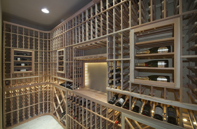 Estuary Model Home contemporary-wine-cellar
