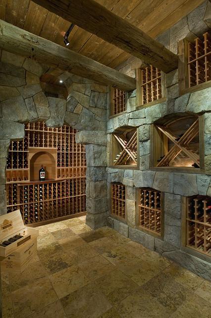 European Villa mediterranean-wine-cellar