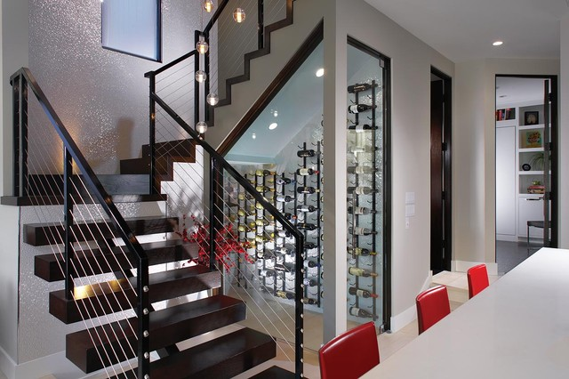 Fernleaf contemporary wine cellar