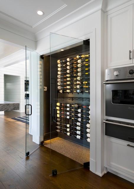 Frameless Wine Room Glass Doors - Contemporary - Wine ...