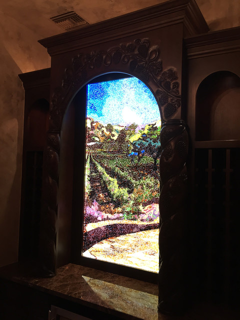 Glass Mosaic Mural Wine Grotto Contemporary Wine
